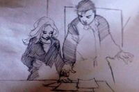 Prophetic drawing by Matt of Matt and Claire300x200.jpg